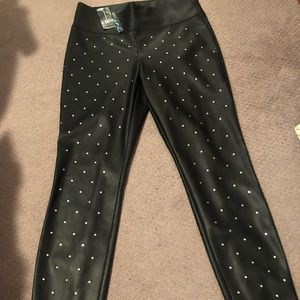 INC faux leather pants NWT with studs on front